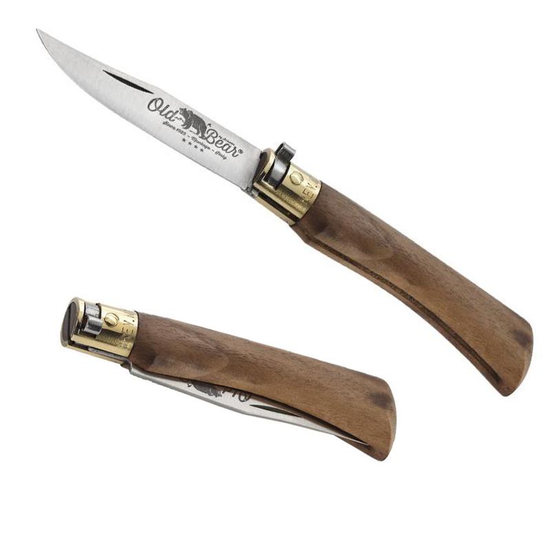 Couteau pliant Old Bear gravé