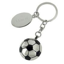 Porte-clés argenté personnalisé football