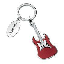 Porte-clés personnalisé guitare rouge