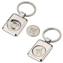 Porte-clés jeton de caddie personnalisé