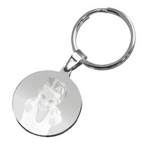 Porte-clés rond photo personnalisé
