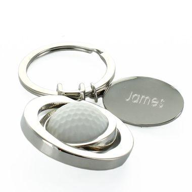 Porte-clés balle de golf gravé