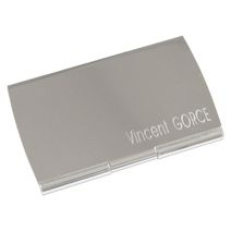 Etui cartes de visite en métal gravé