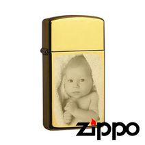 Zippo Slim gravé