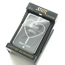 Briquet Star Love gravé