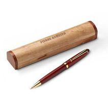 stylo bille en bois gravé