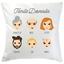 Coussin my family personnalisé 6 visages