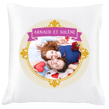 Coussin photo fleurie