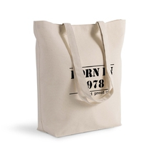 "Sac shopping imprimé Anniversaire ""Born in"""
