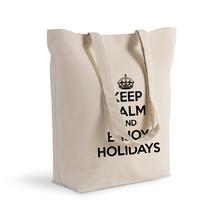 Sac shopping 100% coton imprimé Keep Calm