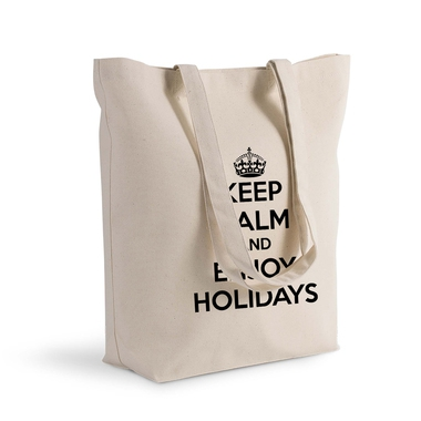 Sac shopping 100% coton imprimé Keep Calm