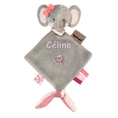 Mini doudou Nattou Adele l'éléphant