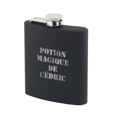 Flasque À whisky personnalisé en silicone noir