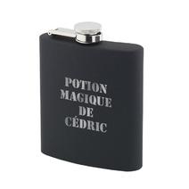 Flasque noir en silicone à personnaliser