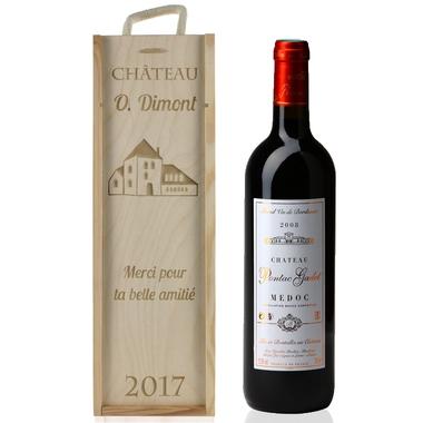 Caisse a vin classique gravée