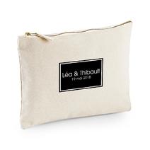 Pochette coton personnalisable