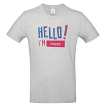 t-shirt hello homme