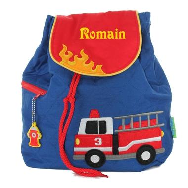 sac à dos stephen Joseph pompier brodé
