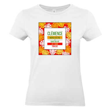 t-shirt palmier femme personnalise