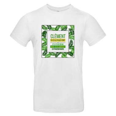 T-shirt palmier homme personnalisé