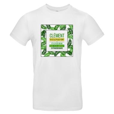 t-shirt palmier homme personnalise