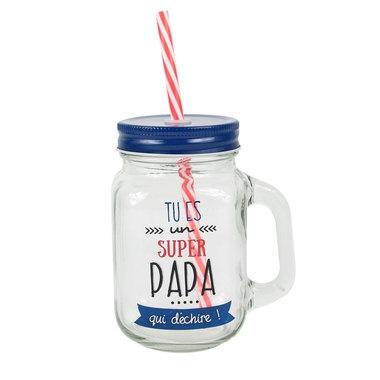 mason jar en verre super papa