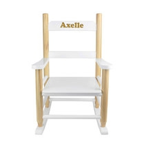 fauteuil pour enfant à bascule gravé face