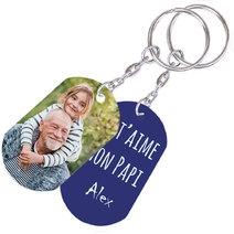 Porte-clés photo grand-père