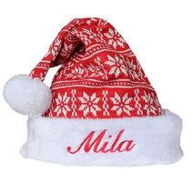 Bonnet de Noël scandinave personnalisé prénom