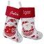 Bottes de Noël blanches effet tricot