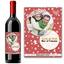 Bouteille de vin de Noël avec photo