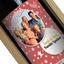 Bouteille vin Noël personnalisée photo