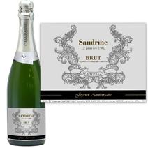 Bouteille de champagne personnalisée avec prénom