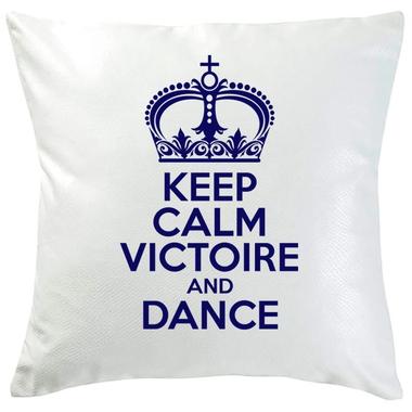 Coussin Keep Calm personnalisé marine