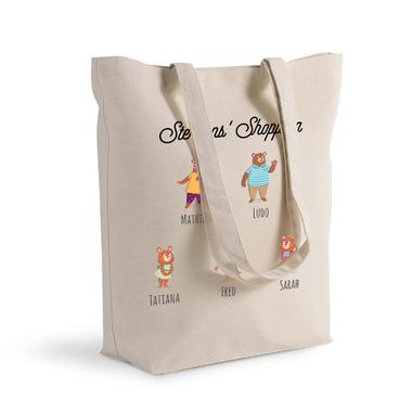 Tote bag My Family Bear