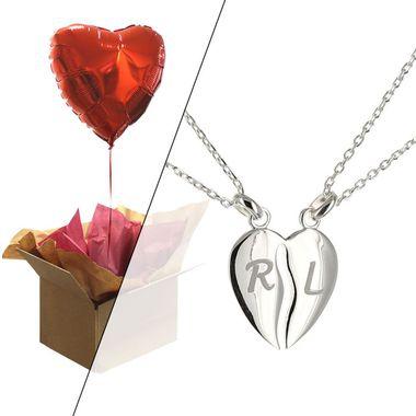 duo pendentif coeur et ballon coeur