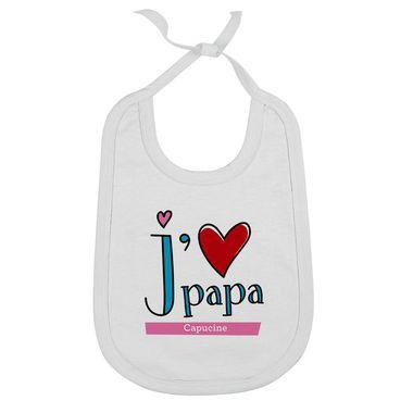 Bavoir bébé j'aime papa