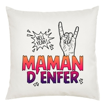 Coussin Maman d'enfer