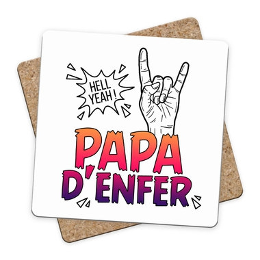 Sous-bock Papa d'Enfer