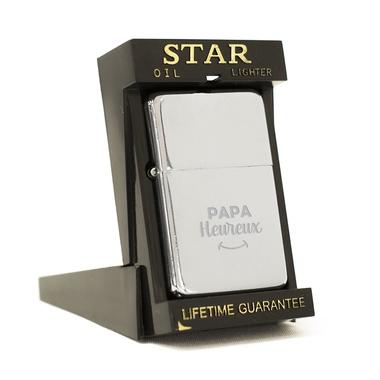 Briquet Star chromé Papa Heureux