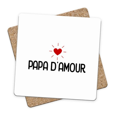 Sous-bock Papa d'Amour