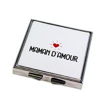 Miroir de poche Maman d'amour plat