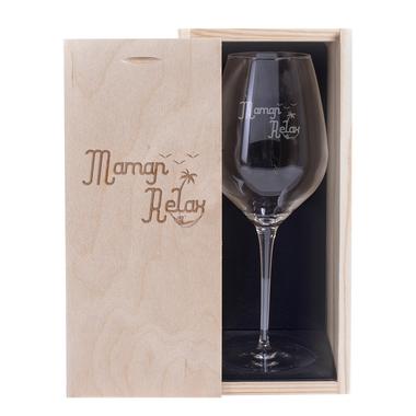 Verre à vin Maman Relax
