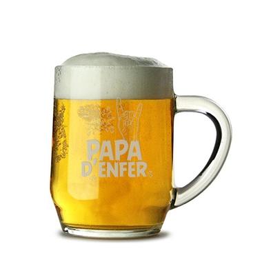 Chope à bière Papa d'Enfer