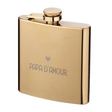 Flasque dorée Papa d'amour