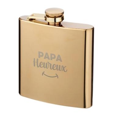 Flasque dorée Papa Heureux