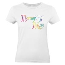 T-shirt femme blanc Maman Relax