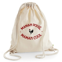 Sac de loisir beige Maman Poule Maman Cool