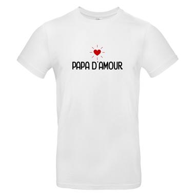 T-shirt blanc Papa d'amour