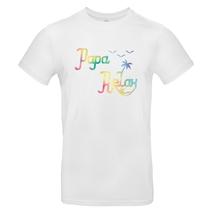 T-shirt blanc Papa relax